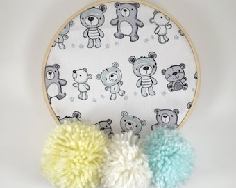 Wooden frame wall decor baby room mobile