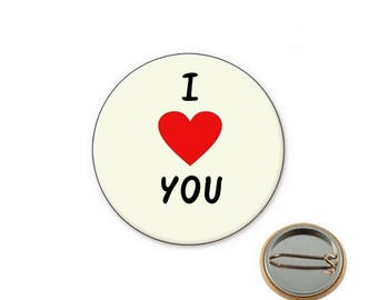 Love badge i Ø25mm PIN you-