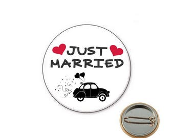 Just Married - Ø25mm pin badge