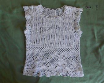 Crochet t shirt women