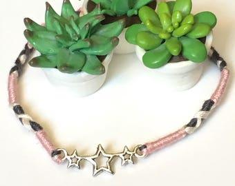 Friendship charm bracelet with star