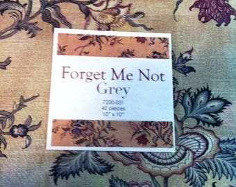 Forget Me Not Grey 7200-031 Layer Cake