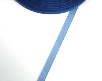 5 meters of 10 mm dark blue organza Ribbon