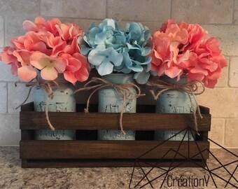 Decorative Mason jar (without flowers and basket)