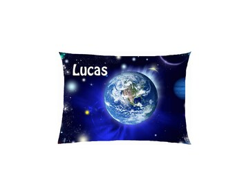 satin pattern Earth from space customizable pillow ref 622