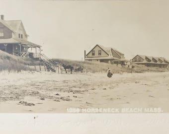 Horseneck Beach Westport MA Vintage / Antique Postcard
