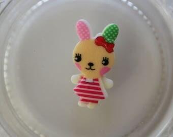 beige and pink rabbit resin scrapbooking