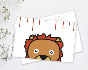 Map postcard deco Axel the Lion