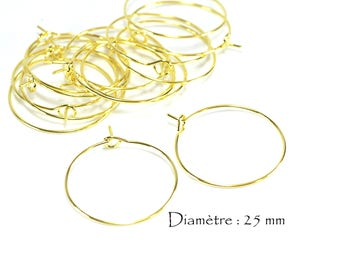 Rings for earrings type Creole (50 pcs)
