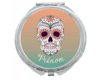 """""""Head of skulls Mexican"""" custom Pocket mirror"""