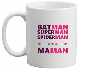 """SUPER HERO MOM"" CERAMIC MUG"