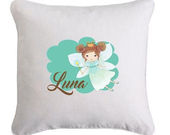 Fairy pillow personalized with name