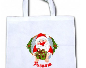 "Tote bag/tote bag personalized ""Santa"""