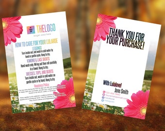 4x6 Thank You Cards for Home Fashion Retailer and Consultant. Home Office approved fonts and color