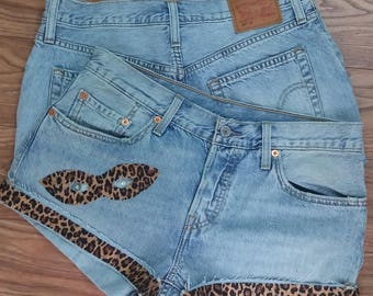 Vintage Denim Shorts-Only Levis - Customized