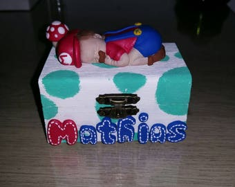 tooth or Mario (another deco choice) jewelry box to customize