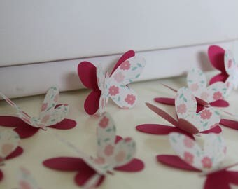 set of 20 paper Butterfly
