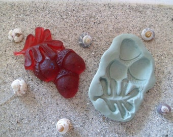 Acorn and leaf silicone mold for polymer clay wepam plaster