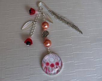 Bookmark dream catcher poppies
