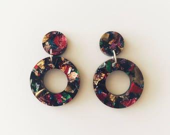 Galaxy Lux Glitter Dangle Earrings