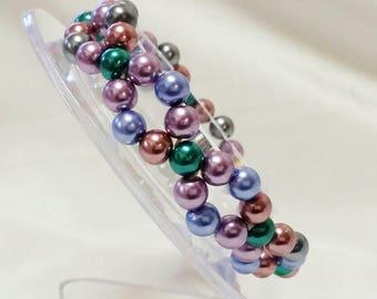 Pearl double entwined  bracelet