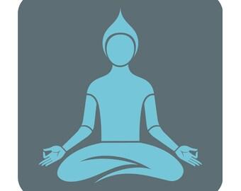 Buddha in meditation silhouette