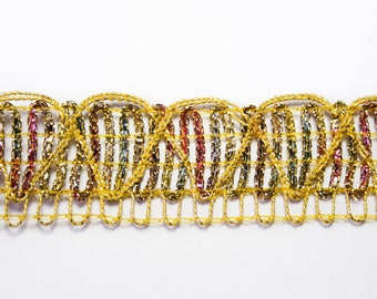Stripe gold multicolor 2.4 cm x 1 meter