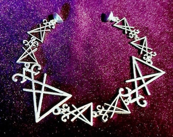 Sigil of Lucifer bracelet - lucifer satanic demonic lefthandpath gothic occult luciferian