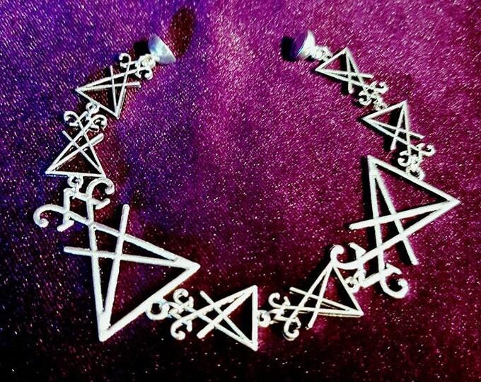 Sigil of Lucifer bracelet - lucifer satanic demonic lefthandpath gothic occult luciferian