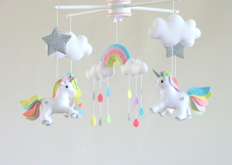 Baby Mobile Unicorn Baby Mobile Baby Crib Mobile Girl Crib