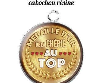20 mm resin cabochon pendant medal sweetheart... 9