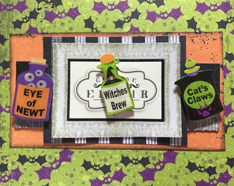 Halloween Card - Witches Brew - Handmade