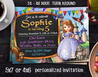 Princess Sofia Birthday Invitation, Princess Sofia Invitation, Sofia the first invitation, Princess Sofia Invitation, Princess Sofia Party