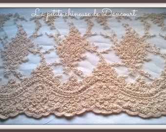 Valentina powder pink lace