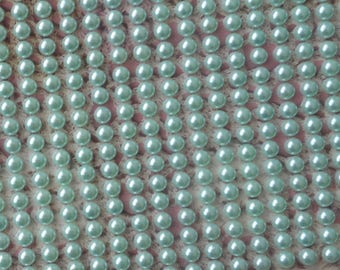 Acrylic adhesive light green Pearly half acrylic 5 mm in diameter (by 153 jelly)