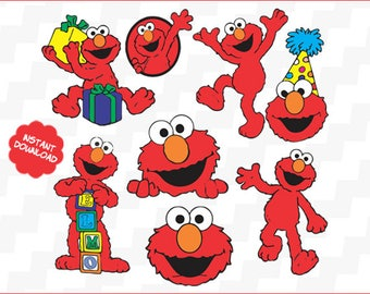 Elmo vector, Svg Cutting File, Sesame Street Svg File, Svg for Silhouette, Svg for Circut, Elmo cut Files, Svg Files, Svg Clipart