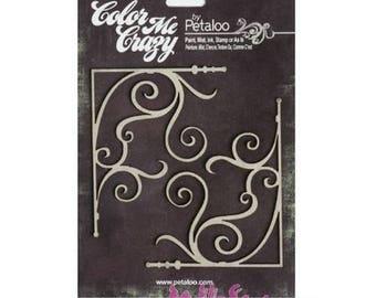 "Chipboard ""petaloo"" cardmaking scrapbooking embellishment corners *."