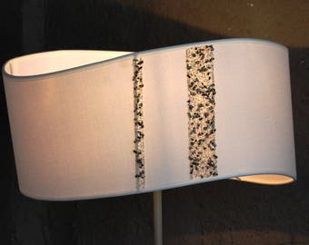 Large white, contemporary Lampshade
