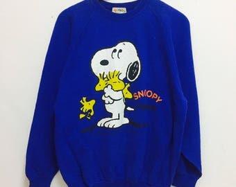 Cartoon Peanuts Snoopy & Friends Sweatshirt Good Condition