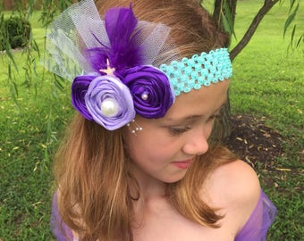 Mermaid headband, Little girls fancy headband, Party headband, fascinator