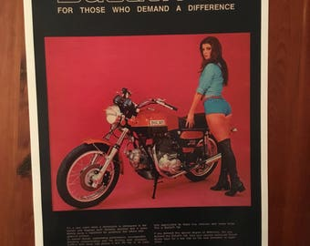 Vintage Ducati 750 Motorcycle reproduction poster