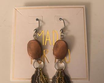 Boho earrings/dangle earrings/bronze earrings