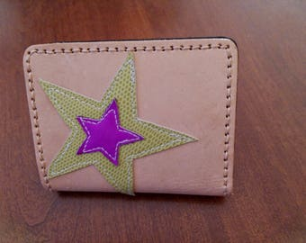 vegetable tanned leather wallet