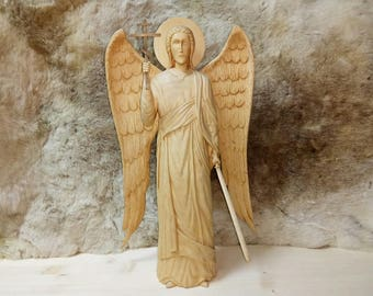 Wooden sculpture Archangel