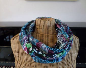 snood multicolor viscose fabric