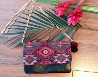 Azteca luxury clutch bag