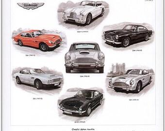 Classic Aston Martin - Fine Art Print - DB4 DB5 DB6 DBS