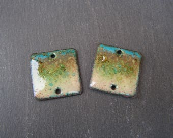 enamelled copper (hot) charms connector seaside