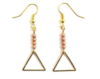 Rose gold triangle #1 earrings