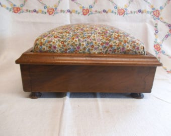 Vintage Wooden Foot Stool - Perfect For Display of Doll or Bear